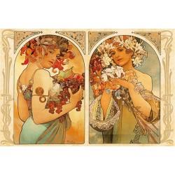Alfons Mucha - Ovocie a kvetiny