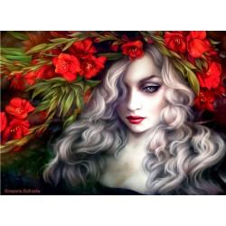 Dievča s kvetmi