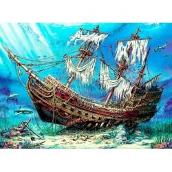 Vrak lode na dne oceánu