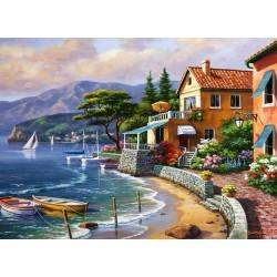 Ráno pri talianskom jazere