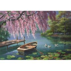 Jarná pohoda u rybníka