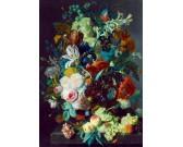Zátišie ovocia a kvetín