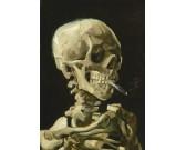 Hlava kostry s cigaretou