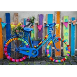 Farebný bicykel