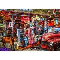 Stará benzínová pumpa