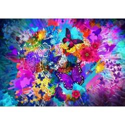 Kvetiny a motýle