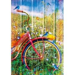 Červený bicykel