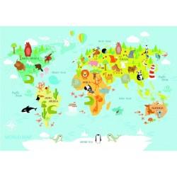 Detská mapa sveta - DETSKÉ PUZZLE