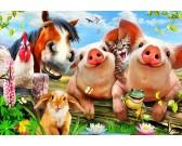 Zvieratká na farme - DETSKÉ PUZZLE