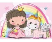 Princezná a jednorožec - DETSKÉ PUZZLE