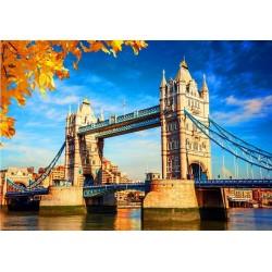 Tower Bridge v jeseni