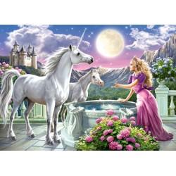 Princezná a jej jednorožci - DETSKÉ PUZZLE