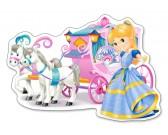 Kočiar pre princeznu - MAXI PUZZLE