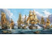 Námorná bitka - PANORAMATICKÉ PUZZLE