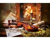 Zátišie huslí a obrazu