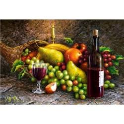 Zátišie ovocie a víno