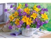 Žlto-fialová kytica