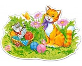 Mačacia rodinka - MAXI PUZZLE
