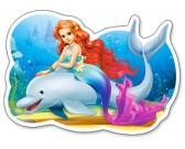 Morská víla a delfín - DETSKÉ PUZZLE