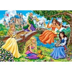 Princezné v záhrade - DETSKÉ PUZZLE