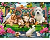 Zvieratká v parku - DETSKÉ PUZZLE