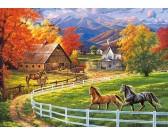 Kone na farme - DETSKÉ PUZZLE