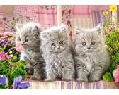 Tri šedé mačičky - DETSKÉ PUZZLE