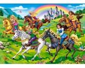 Princezné na koňoch - DETSKÉ PUZZLE