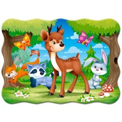 Jelenček so zvieratkami - DETSKÉ PUZZLE