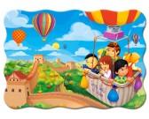 V lietajúcom balóne cez Veľkú čínskú stenu - DETSKÉ PUZZLE