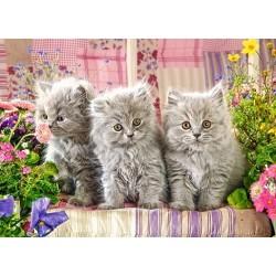 Tri šedivé mačičky - DETSKÉ PUZZLE