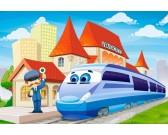 Vláčik na stanici - MAXI PUZZLE