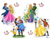 Tancujúce princezné - DETSKÉ PUZZLE