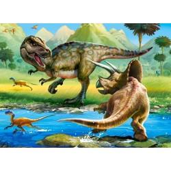 Tyrannosaurus proti Triceratops - DETSKÉ PUZZLE