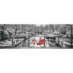 Amsterdamský bicykel - PANORAMATICKÉ PUZZLE
