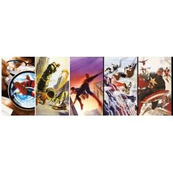 Hrdinovia Marvel - PANORAMATICKÉ PUZZLE