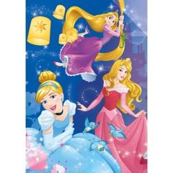 Princezné - oslava - SVIETIACE PUZZLE
