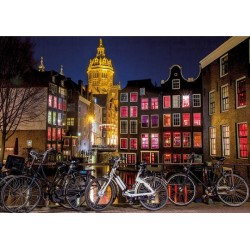 Nočný Amsterdam - SVIETIACE PUZZLE