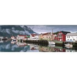 Rybárska dedina - PANORAMATICKÉ PUZZLE