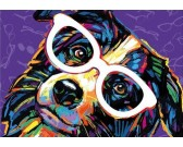 Pes s okuliarmi