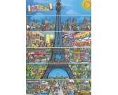 Kreslená Eiffelova veža