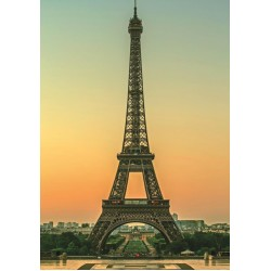 Eiffelovka za súmraku