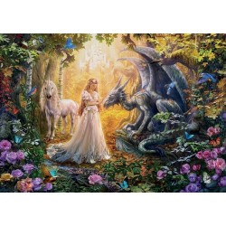 Drak, princezná a jednorožec