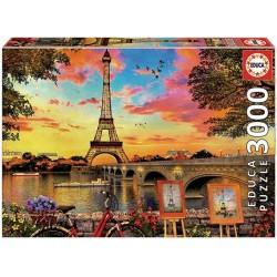 Západ slnka v Paríži