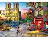 Notre Dame pri západe slnka