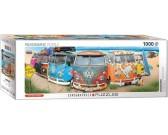 Volkswagen autobus na pláži - PANORAMATICKÉ PUZZLE