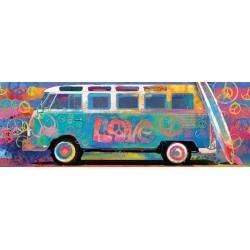 Volkswagen autobus - PANORAMATICKÉ PUZZLE