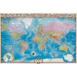 Mapa sveta s póly