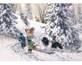 Deti v snehu