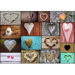 Koláž - srdce